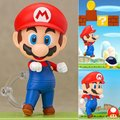 HOT! 10cm Super Mario Action Figure Brother Luigi Nendoroid PVC Kids Gift Toys doll Anime Movie Model Movable Cosplay collection