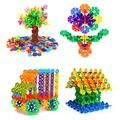 400 Pçs/saco Novo Design Crianças Kid Plastic Edifício Snowflake Enigma Educacional Toy Venda Quente