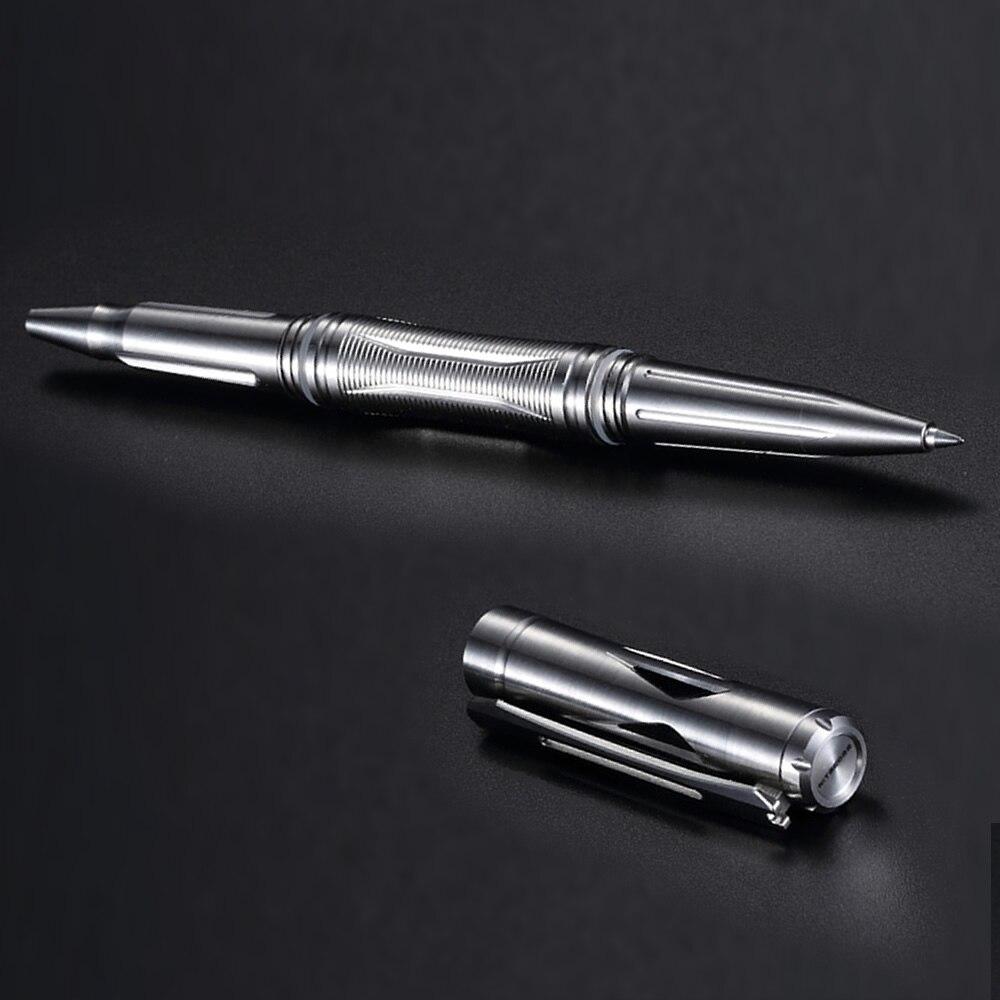 NITECORE NTP20 Multi Functional Titanium Alloy Tactical Pen Ergonomically Tungsten Steel Tapered Tip Escape Self defense