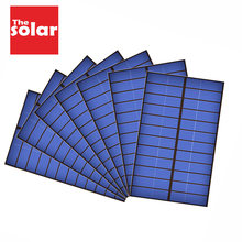Solar Panel 5 5.5 6 12 V Mini Solar System DIY Battery Cell Phone Charger Portable 0.39W 0.6W 0.75W 1.25W 1.5W 1.92W Solar Cell(China)
