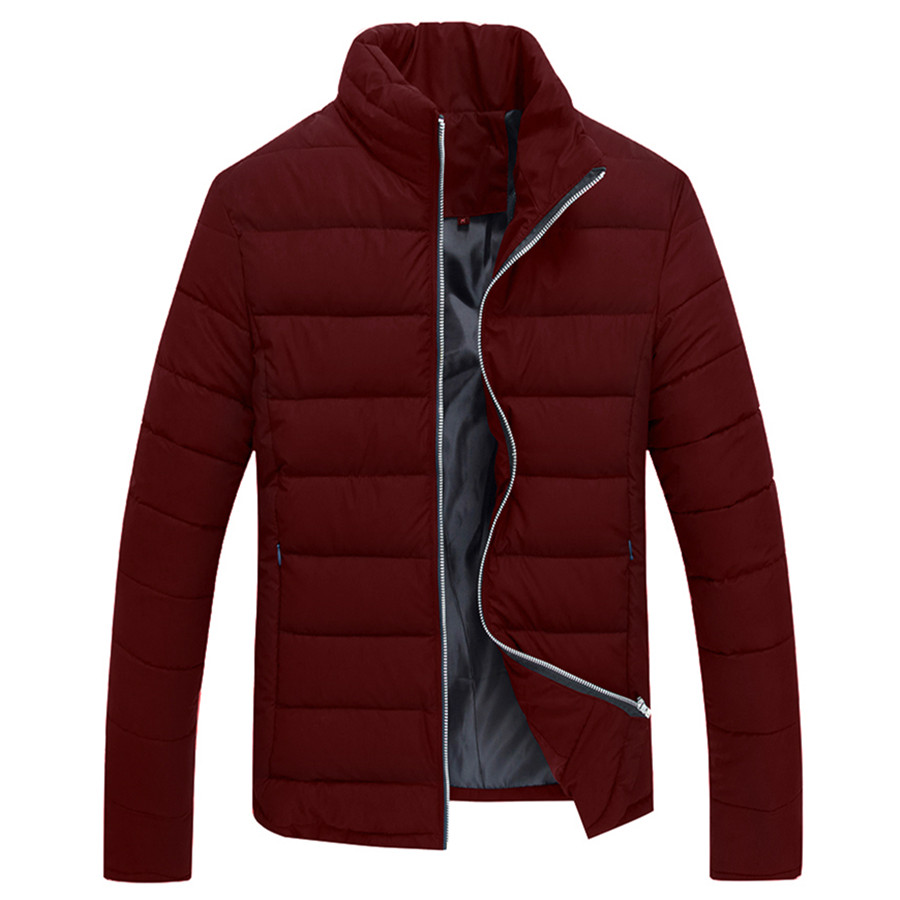 ФОТО New Style Men Parkas Fashion Style Good Quality Mlae Tops Winter Casual Wear Stand Collar Jackets Slim Looking Comfortable Cozy