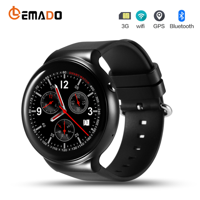 0e4fda030 2017 Best ! Lemado IQI I4 Smart Watch phone Android 5.1 OS MTK6580  Quad-core Smartwatch support 3G GPS Wifi wristwatch