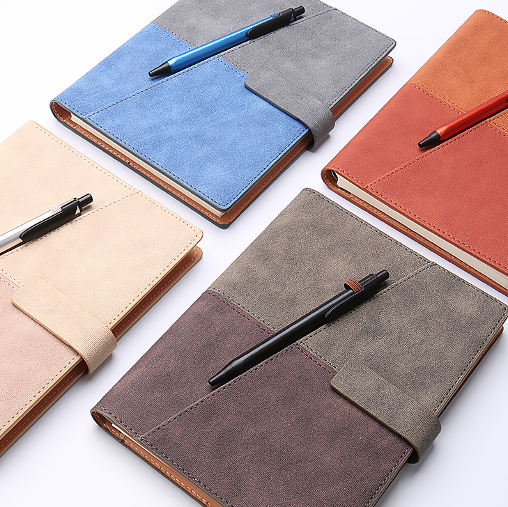 Brand New A5 Business Office Notebook Creative Colored Diary Planner Business Travel Notepad Office Supplies