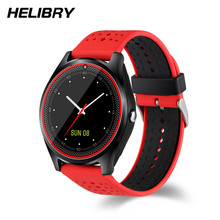 Купить с кэшбэком New Classic Dial V9 SMart Watch for Women Men Android Smartphones Support Android iOS Phones  8G 16G SD Card TF PK DZ09 Q18