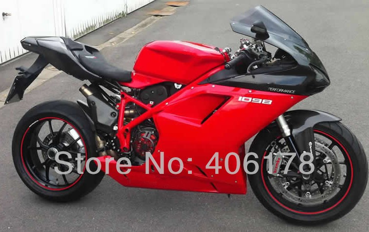 Hot Sales,Aftermarket Fairing Kit For Ducati 1098 848 1198 2007-2011 Red and Black ABS Motorcycle Fairings (Injection molding) hot sales yzf600 r6 08 14 set for yamaha r6 fairing kit 2008 2014 red and white bodywork fairings injection molding