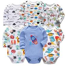 Newborn Bodysuit Babies Baby Boys Girls Clothes 3-24 Months 6 piece/lot Lovely All Cotton Knit Infant Long Sleeve Bodysuits цены