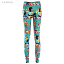 Pants High Quality New Sexy Tattoo Leggins Punk Fitness Classical Beauty Print Leggings Women's Colorful Trousers Fitness Capris