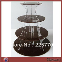 Crystal 4 tiers round acrylic Tree shaped cupcake stand
