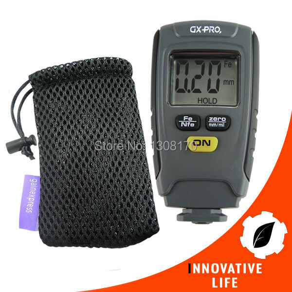 ФОТО 1.25mm Automotive Coating Thickness Meter Portable Car Paint Thickness Tester Digital Thickness Guage with Pouch Fe/NFe Mode