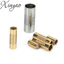 XINYAO 5pcs/lot Stainless Steel Magnetic Clasp Fit 2/3/4/5/6/7/8mm Leather Cord Bracelet Connectors For DIY Jewelry Making F2279(China)