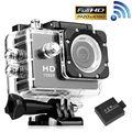 BOSIT-Full HD 1080 P À Prova D' Água Esportes mini Camera Ação DV DVR Vídeo Capacete Preto