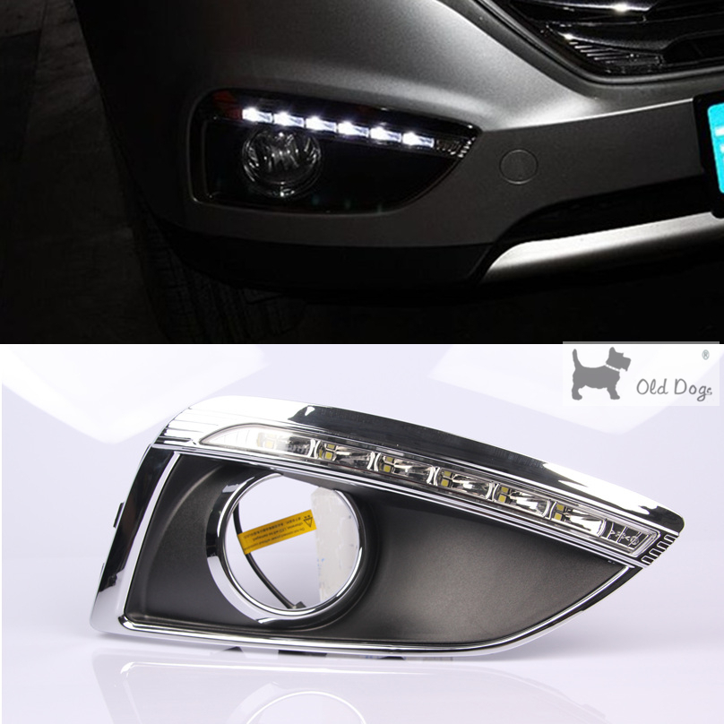 wholesale For Hyundai IX35 2010 2011 2012 Driving DRL Daytime Running Light fog lamp Relay LED