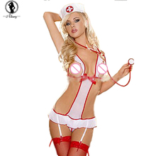 2017 New sexy lingerie hot temptation to nurse Sexy lingerie women costumes Sexy underwear SM cosplay erotic lingerie ST305(China)
