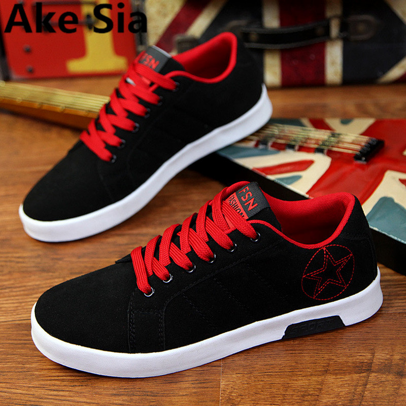 Ake Sia 2017 Wholesale Hot Sale Spring new fashion suede Men Shoes Mens canvas shoes Casual Breathable Shoes flat shoes 39-44 hot sale new products for women s shoes flat sheet canvas shoes camouflage roses multicolor big yards 42