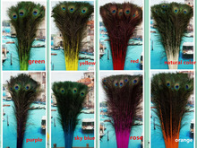 Wholesale 20pcs high Quality natural peacock feathers eye 75-85cm/30-34inch diy stage performance Wedding decoration hot