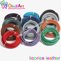1Yard Metal Gray 10 6mm Real Licorice Leather Cords For European Popular Leather Bracelet Jewelry Making