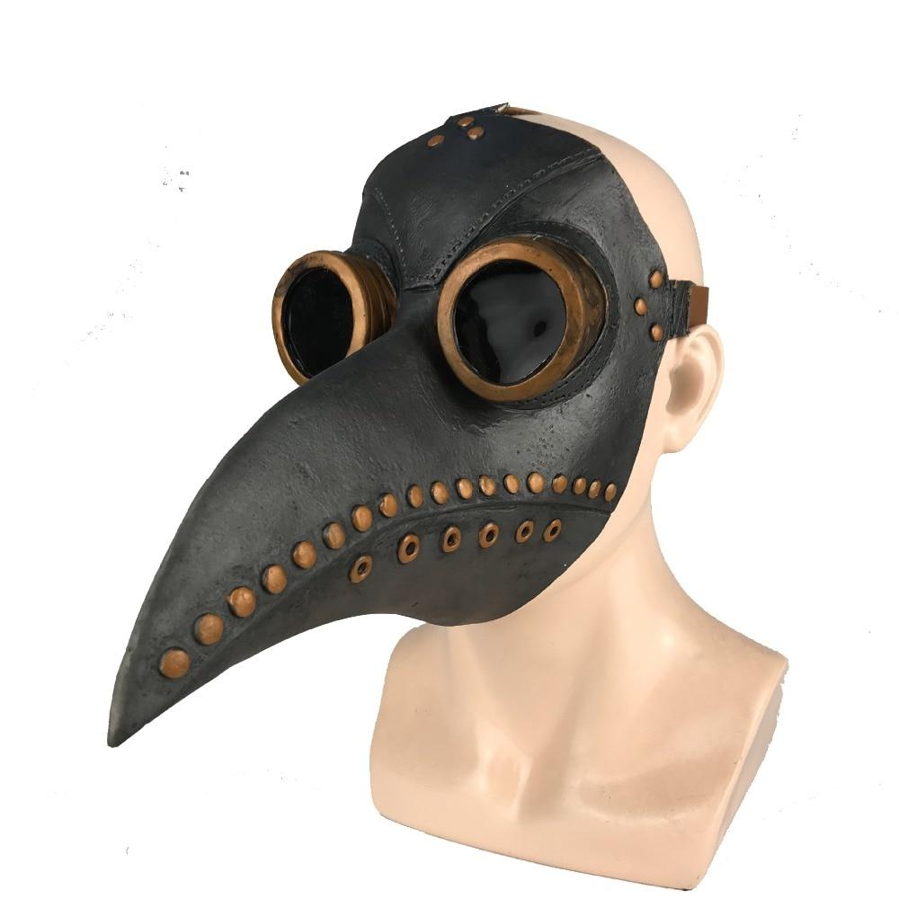 HTB1F7SJaGWs3KVjSZFxq6yWUXXan - หน้ากากกาฬโรค ยุคกลาง ความตายสีดำ หน้ากากคอสเพย์ผู้ใหญ่ Steampunk Plague Doctor Bird