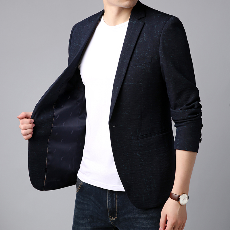 Da Del Giacca Navy Button Degli Partito Vestito Cappotto Vestiti Singolo  Coreano Uomini Blu Modo 2018 Sportiva Marca Slim ... cfdf065b4df