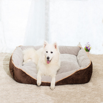 High Quality 2017 New Big Size Large Dog Bed Mat Soft Fleece Kennel Pet Dog Cama Puppy Cat Warm Bed House Cozy Dog House Pad