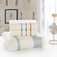 Low Price High Quality Home Textile New 100 Cotton Bath Towel Set 3Piece Bath Towel Set