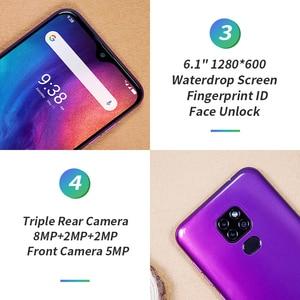 Image 4 - Ulefone Note 7P Smartphone Android 9.0 czterordzeniowy 3500mAh 6.1 calowy ekran Waterdrop 3GB + telefon komórkowy 32GB odblokowanie twarzą