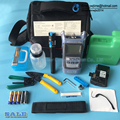 14 PCS Fiber Optic FTTH Tool Kit with CT-30 Fiber Cleaver and Optical Power Meter 5km Visual Fault Locator Wire stripper