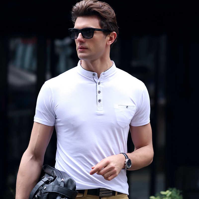 AIRGRACIAS marca ropa nuevos hombres Polo camisa hombres negocios y Casual sólido hombre polo camisa de manga corta transpirable polo camisas