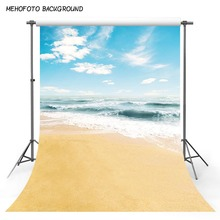 Photography Background Beach 10x10 Wedding Holiday Backdrops Blue Sky White Clouds Outdoor Fondo Photocall Custom