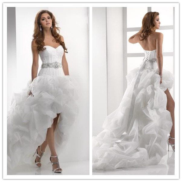Wedding Dress Short Front Long Back In Wedding Dresses From