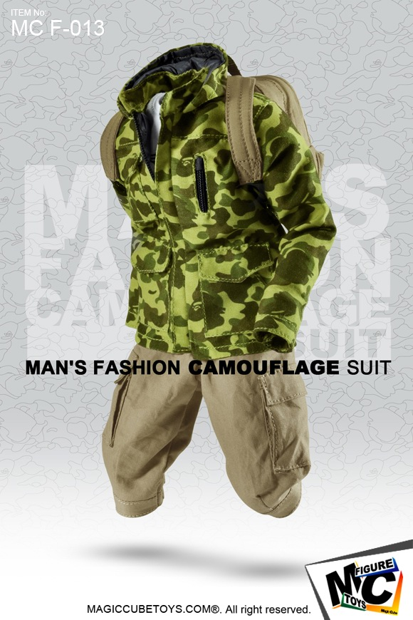 ФОТО 1:6 Scale male Figure Accessory clothes man's fashion camouflage suit for 12