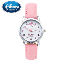 Disney Kids Watch Children Watch Fashion Cool Cute Quartz Wristwatches women Leather Water Resistant Mickey Mouse clock