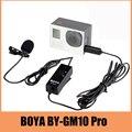 BOYA BY-GM10 Pro Аудио Петличный Микрофон Микрофон для GoPro HD Hero 4 3 3 Камеры