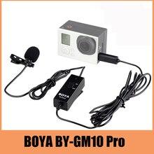 Boya by-gm10 pro audio micrófono de solapa micrófono para cámara gopro hd hero 4 3 + 3