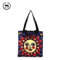 Scione Design Printing Shopping Bag Large Capacity Grocery Handbags Leisure Daily Use A Quality Canvas Supermarket