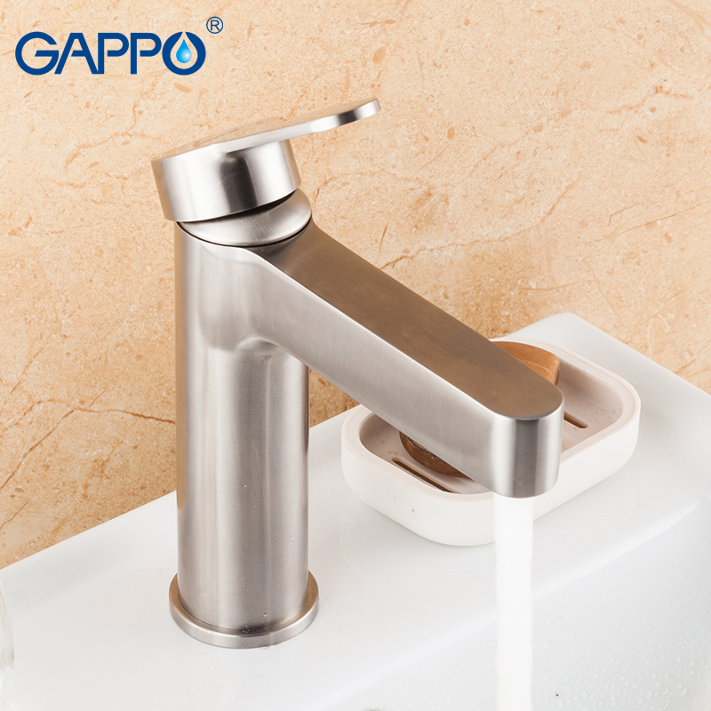 GAPPO basin faucets bathroom sink faucet stainless steel bathroom faucet mixer tap bathroom waterfall water tap torneira in Basin Faucets from Home Improvement