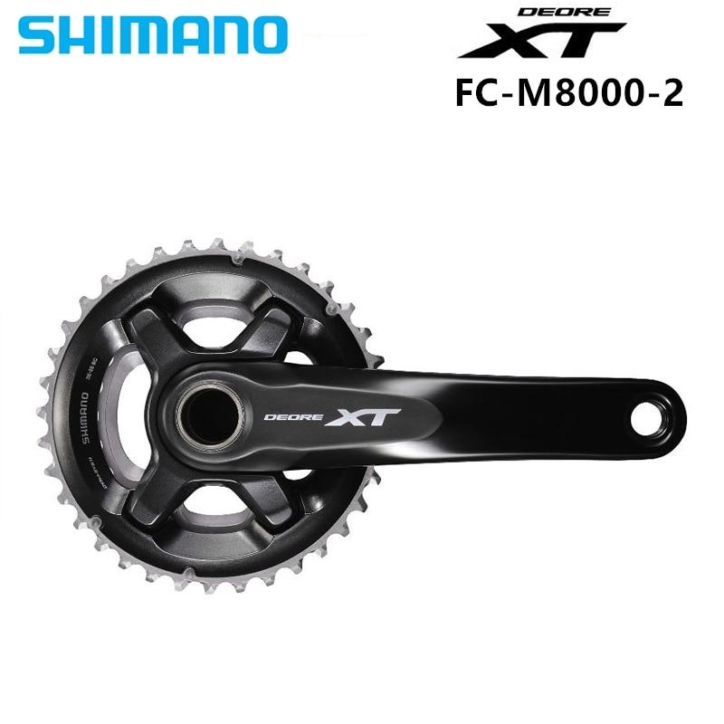 Shimano DEORE XT FC M8000 HOLLOWTECH II Crankset M8000 2x11 Speed 26 36T 28 38T 170MM