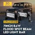 """7 """"84 W Inundación Del Punto del Trabajo del LED Light Bar SUV 5D ForOsram 4WD Truck Offroad Lámpara de Conducción Auto Motercycle Barco Del Coche Externa lámparas"""