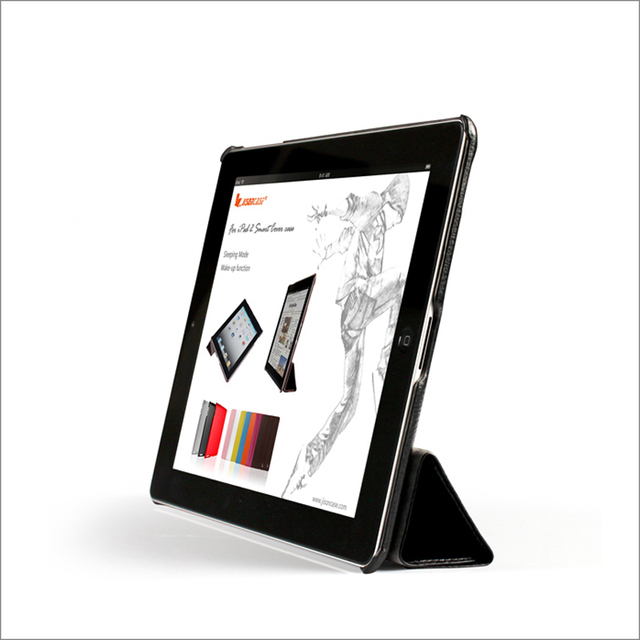 iPad 4 3 2 case Magnetic Litchi Surface Leather Cover