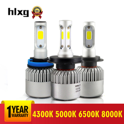 2 Pcs 12V 6500K H11 H1 H4 H7 Auto Led Farol Kit 8000K 72 W/set 5000K h3 Hb4 9006 H8 9005 Cob Luz Do Carro Para Toyota Honda