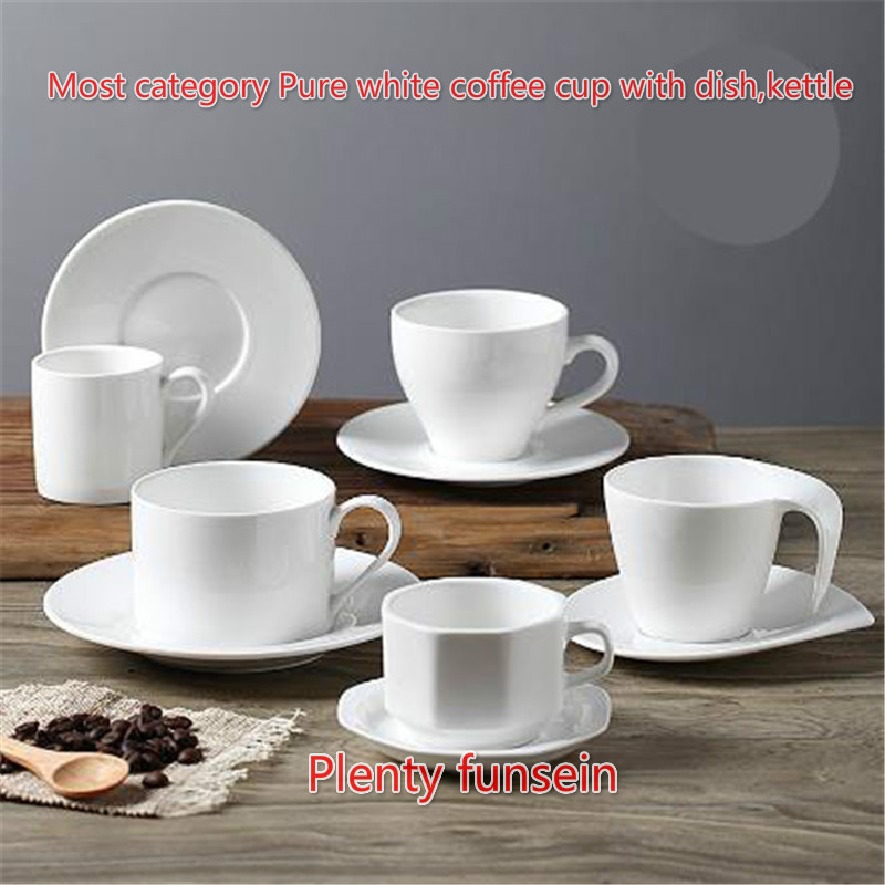 Coffee Cups Saucers Ceramic Set