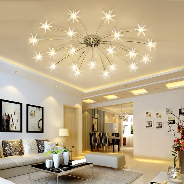 US $275.0 |Moderno led lampadario per soggiorno sala da pranzo camera da  letto lampadario luci lustro di apparecchi di illuminazione G4 perline ...