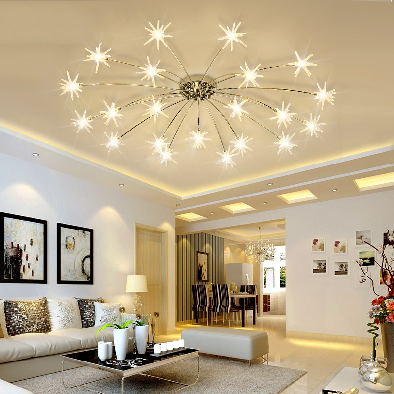 Modern Led Chandelier For Living Dining Room Bedroom