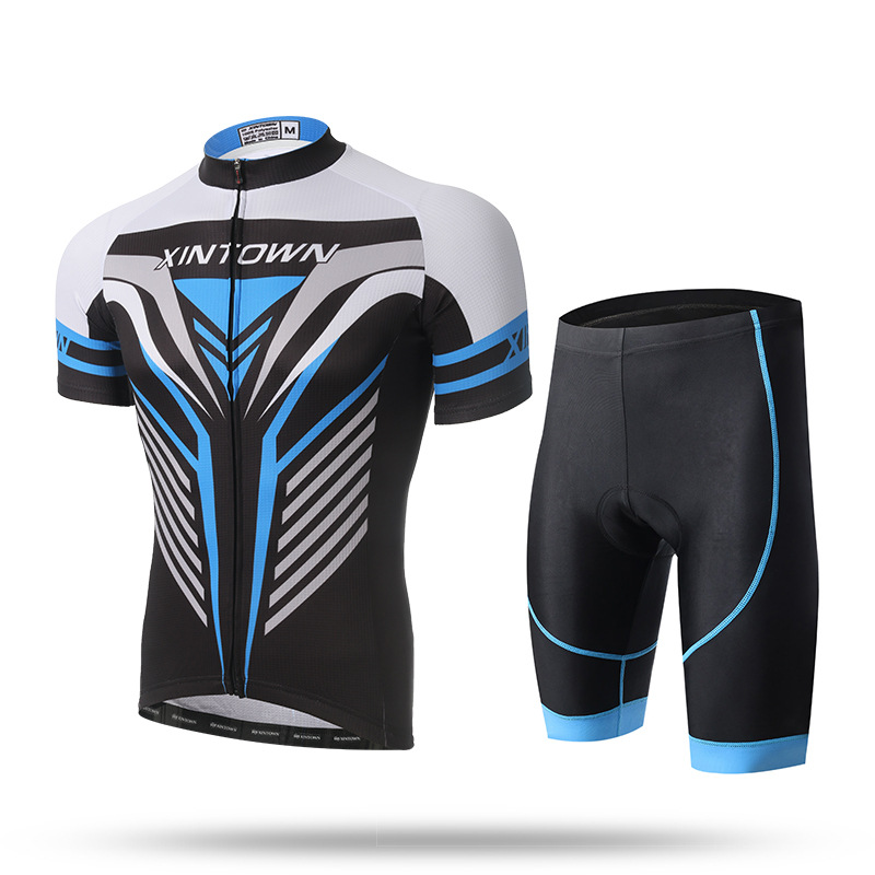 Manlong outdoor Store Ropa Ciclismo Mujer New Arrival Short Sleeve Men Jersey Sets The Jersey Short Set 2017 New Summer Suit Male Bicycle Diamond