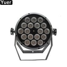 2019 New Music Light Stage Lighting 18x12W RGBW 4IN1 LED Par Light DMX512 Professional Control Stage DJ Equipment Disco Lights стоимость