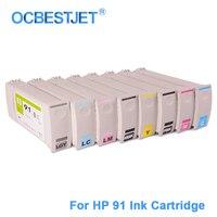 [Üçüncü taraf Marka] HP 91 Için Yedek Mürekkep Kartuşu Için Uyumlu HP Designjet Z6100 Z6100ps Yazıcı (8 renkler Mevcut)