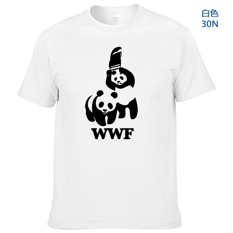 WEWANLD WWF Wrestling Panda Comedy Short Sleeve Cool Camiseta T Shirt Men T Shirt Summer Fashion Funny T-shirt(China)
