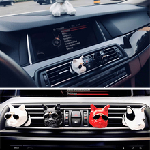 Car air freshener jewelry car outlet bulldog dog perfume interior product decoration