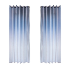 2019 1PC Gradient color window curtains for living room bedroom kitchen tulle and blackout