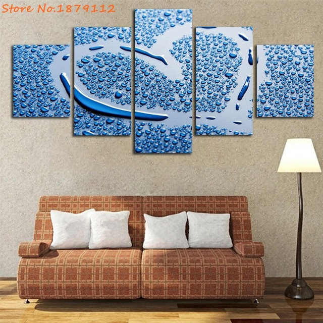 Water Vapor Paint Love Canvas Art Wall Pictures For Living Room Home