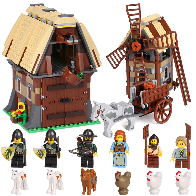 Lepin 16049 Creative Series The Mill Village Raid Set Genuine 7189 Building Blocks Bricks legoing Educational Toys Birthday Gift lepin 36010 genuine creative series the winter village market set legoing 10235 building blocks bricks educational toys as gift
